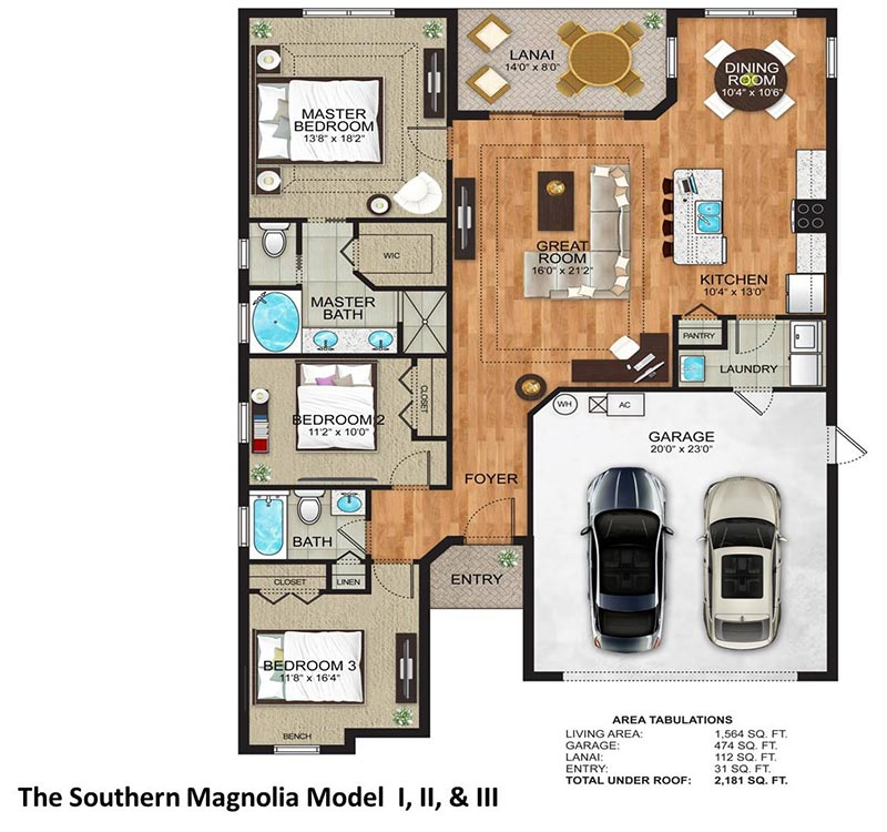 The Southern Magnolia Floor Plan