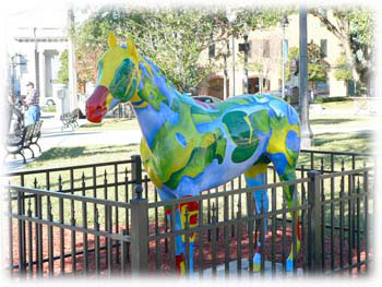 Horse Sculptures in Marion County